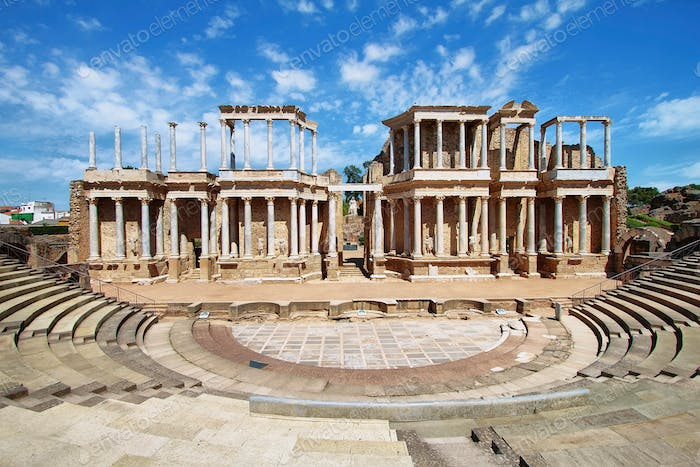 The Roman Theatre (Teatro Romano) at Merida