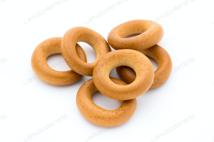Bagels isolated on a white background.