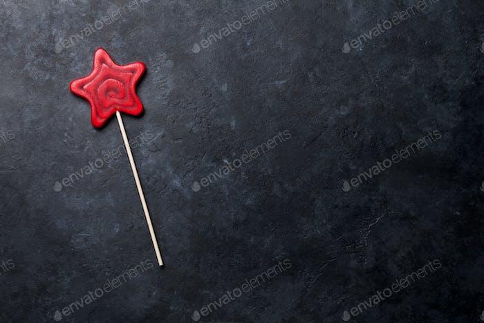 Star shaped lollipop