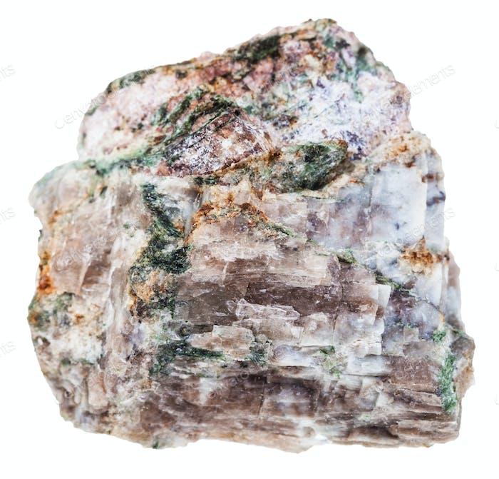 natural Delhayelite stone isolated