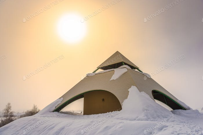 Biei, Hokkaido, Japan Winter Observation Deck