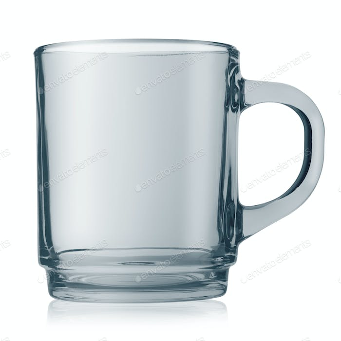 Empty glass cup