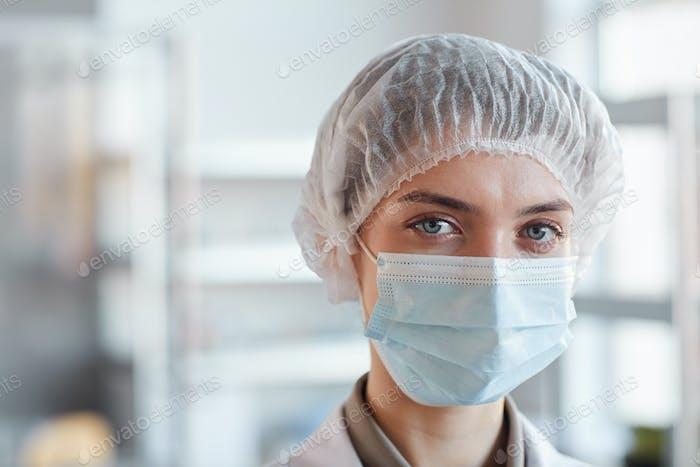 Female Medic Wearing Mask