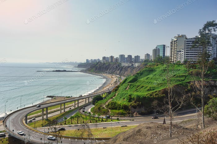 View of the waterfront of Lima