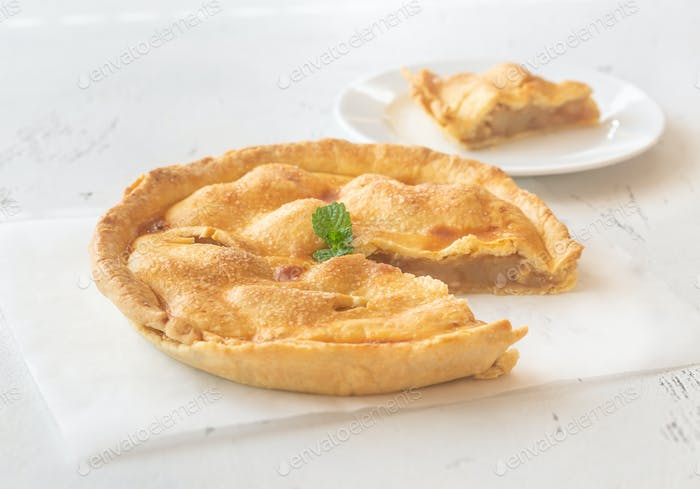 Wedge of apple pie