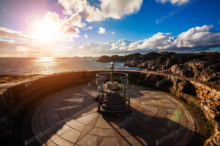Lookout Lindesnes Fyr Lighthouse, Beautiful Nature Norway
