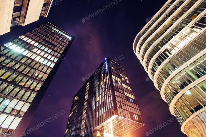 Evening lights in modern city