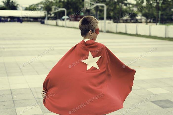 Superhero Boy Kid Custome Energy Concept