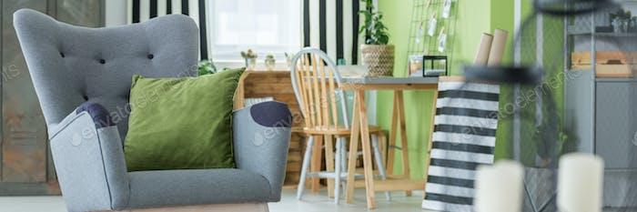 Stylish decor of lounge