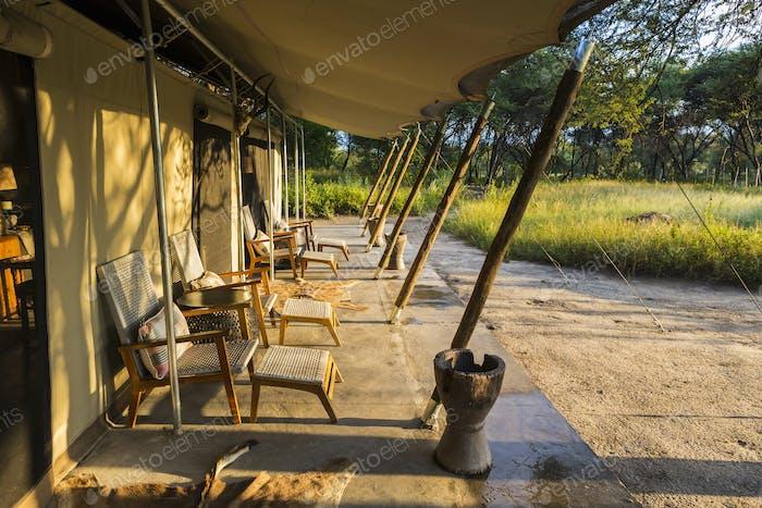 tented camp,Maun,Botswana