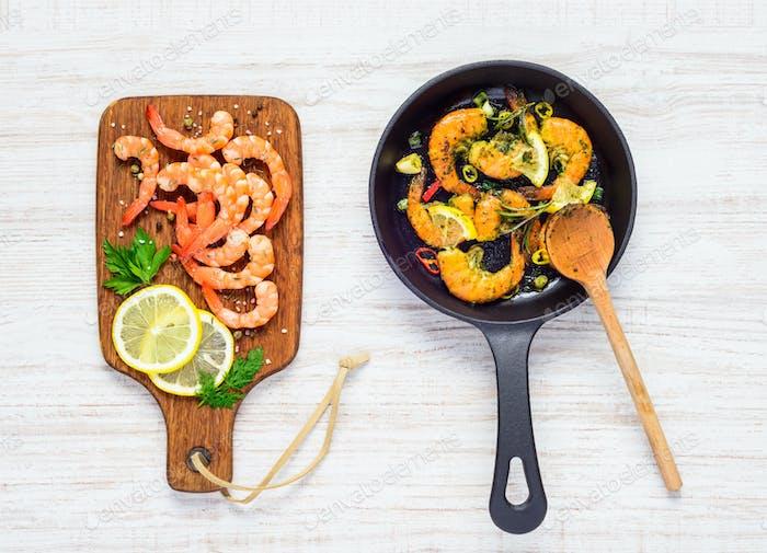 Shrimps Seafood Cooking