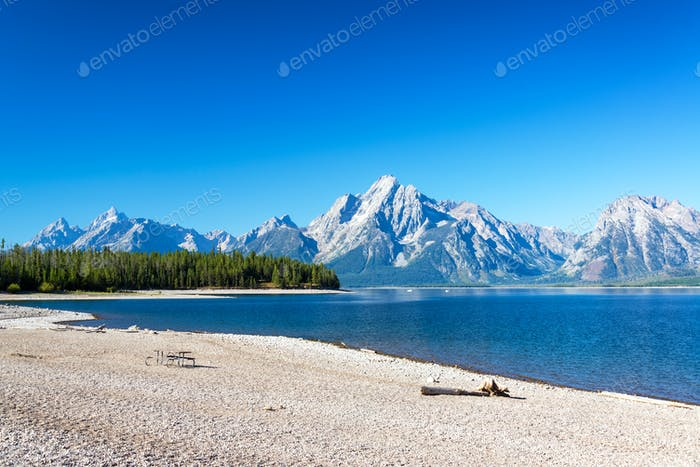 Beach and Teton Range