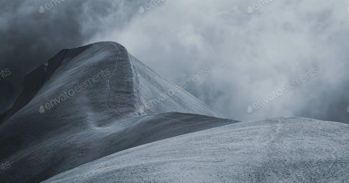 Niebla en Chamonix