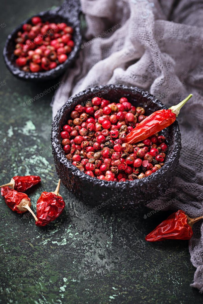 Red and pink pepper