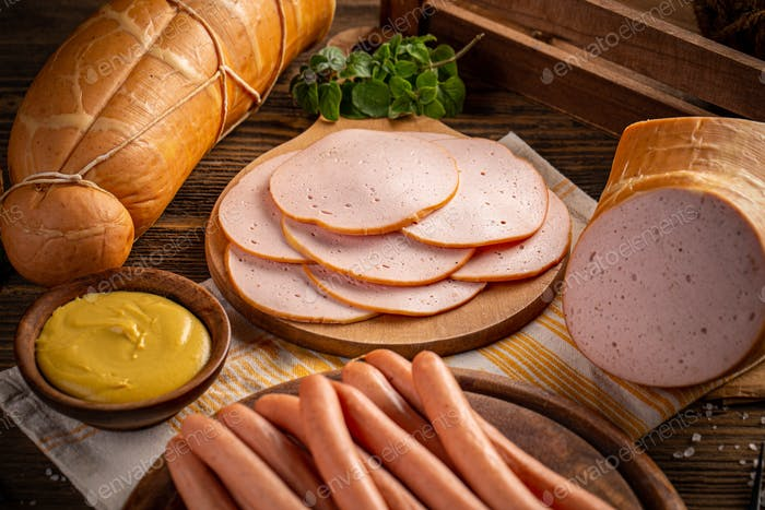 Deli meats and Wiener sausages