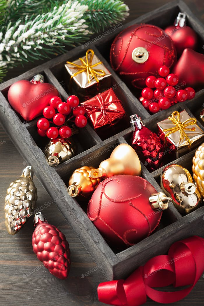 christmas gift and decoration in wooden box - Wooden Box Christmas Decorations