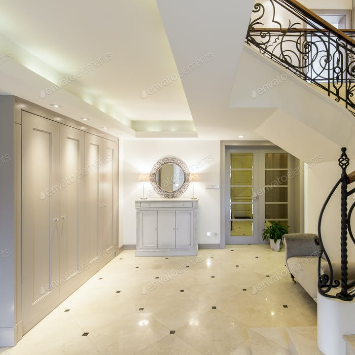 Light and spacious hallway