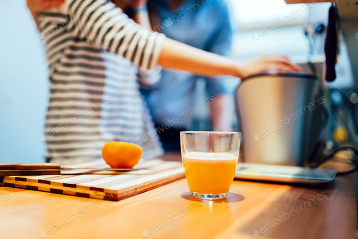 Home made orange juice