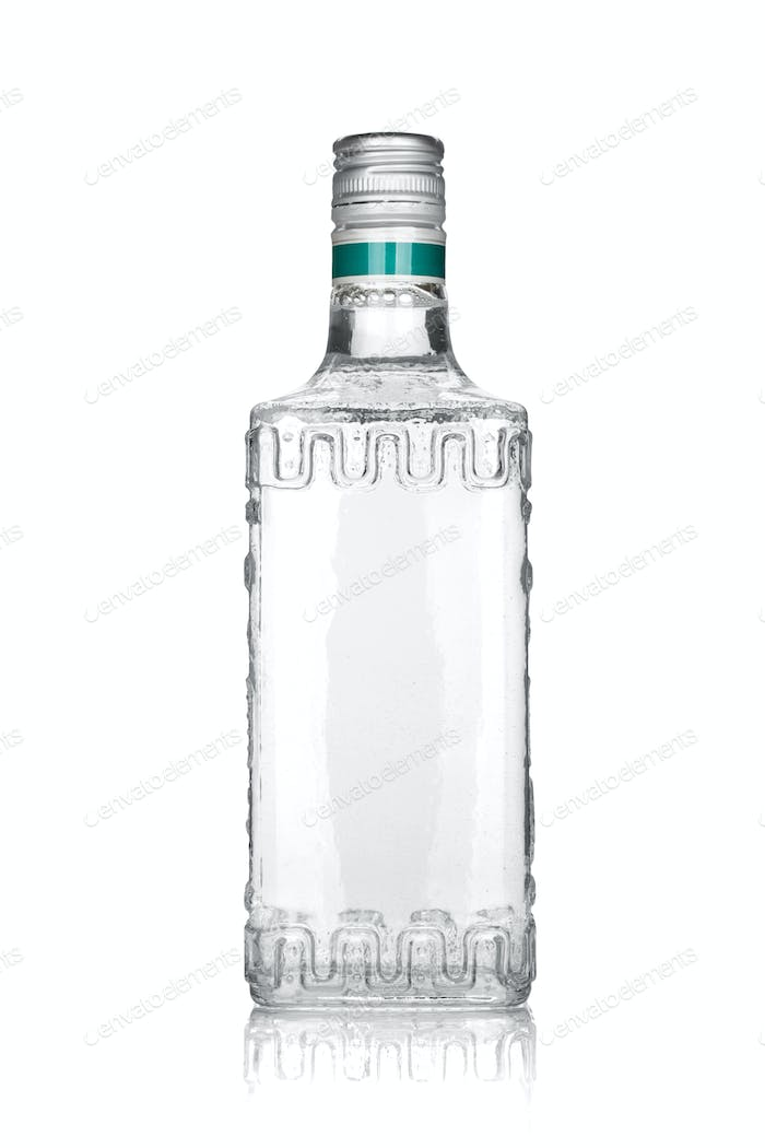 Bottle of silver tequila