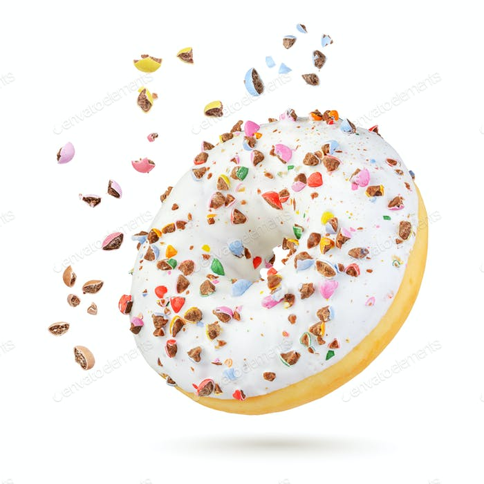 White donut isolated