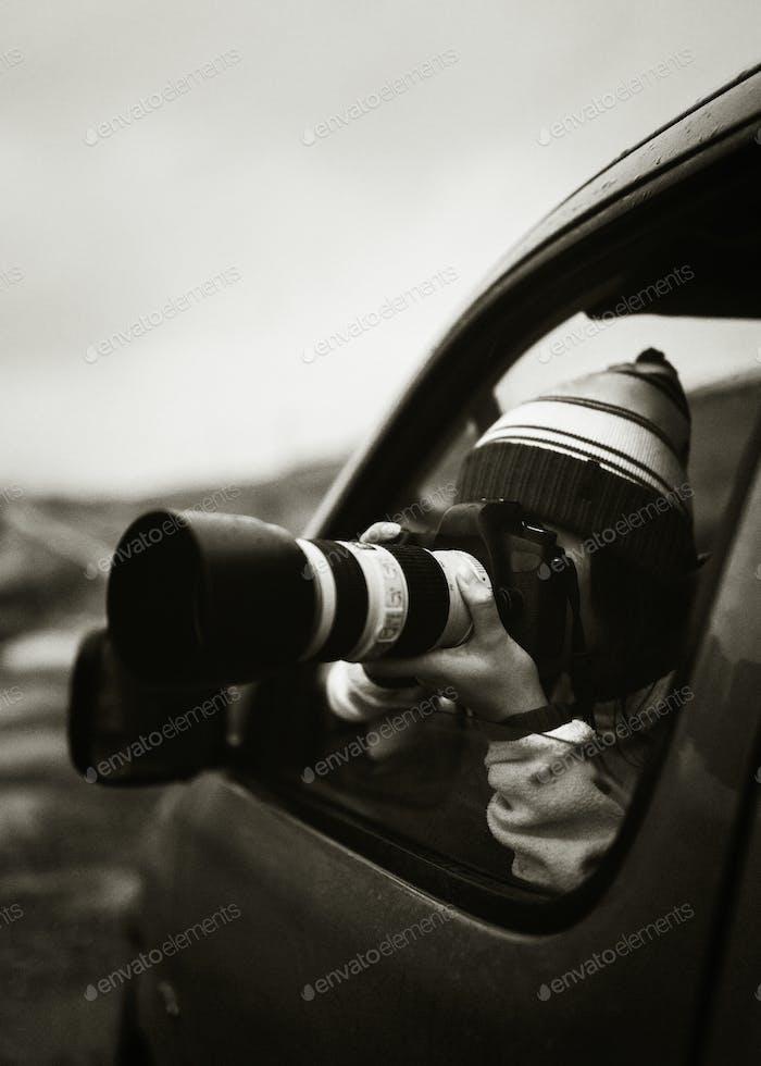 Female nature photographer