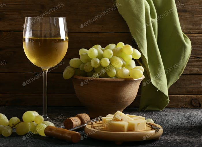 Glass With White Wine