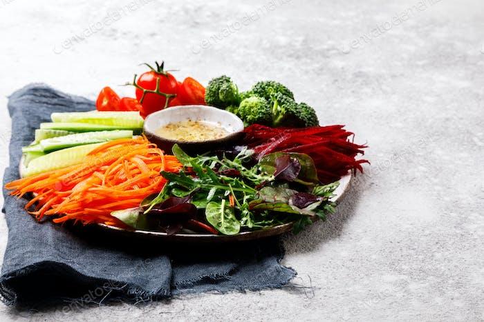 Salad Vegetables.Food or Healthy diet concept