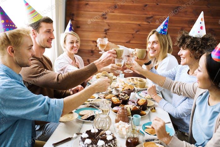 Feier des Geburtstags