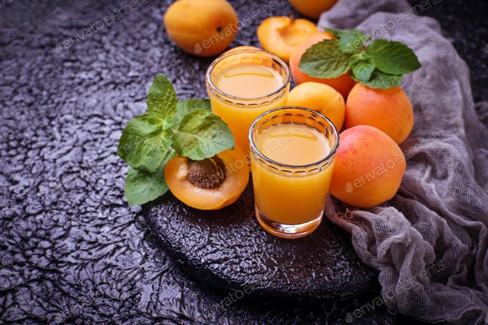 Apricot juice. Fresh summer drink