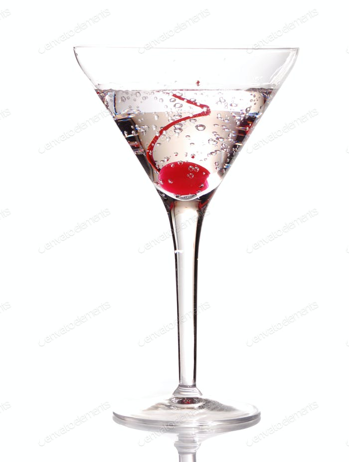 Martini with Cherry