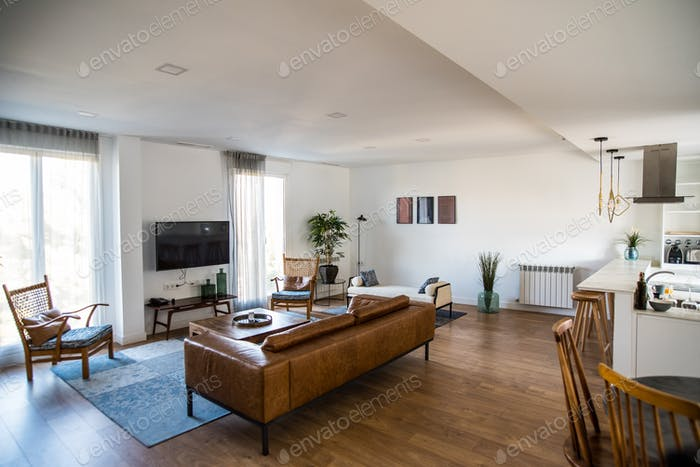 Schönes Haus Innenarchitektur Wohnzimmer