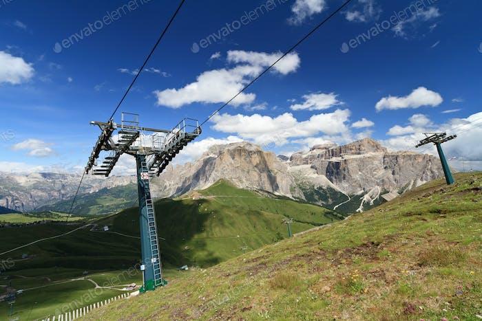Dolomites and Sella pass