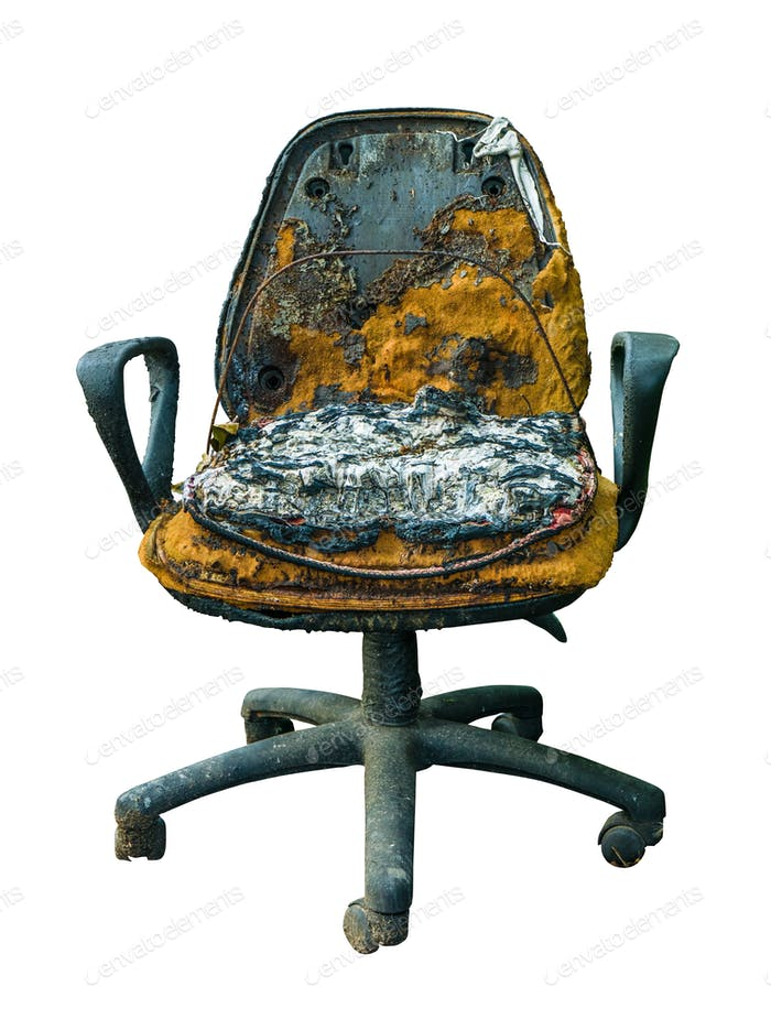 Grungy Damaged Office Chair
