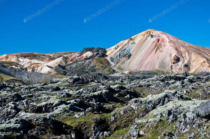 Landmannalaugar , rainbow mountains in Iceland