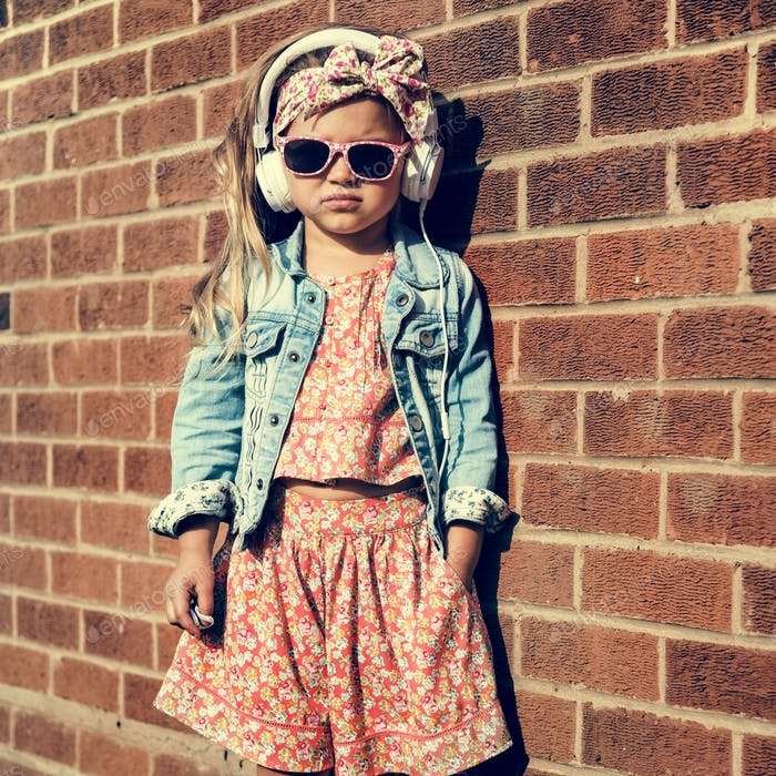 Fashionista Girl Child Adorable Cute Concept
