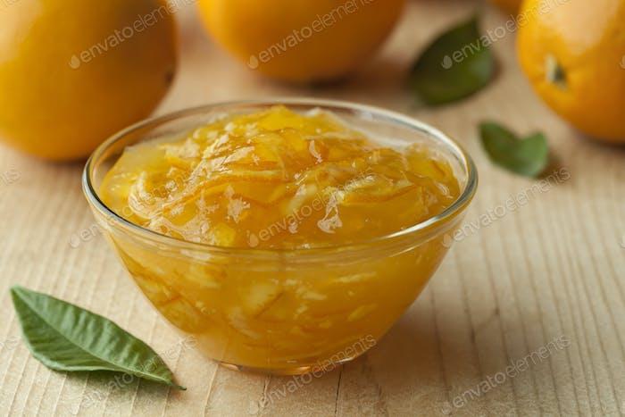 Bowl with homemade marmalade