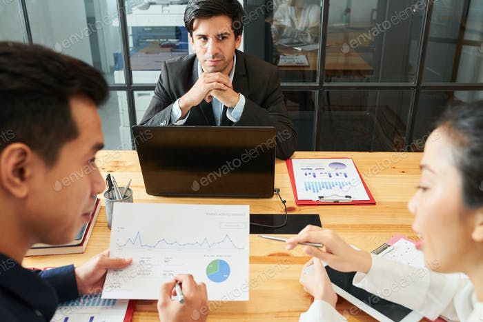 Business people working over strategy