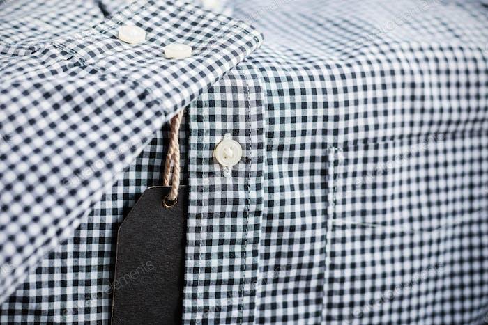 Price tag on shirt