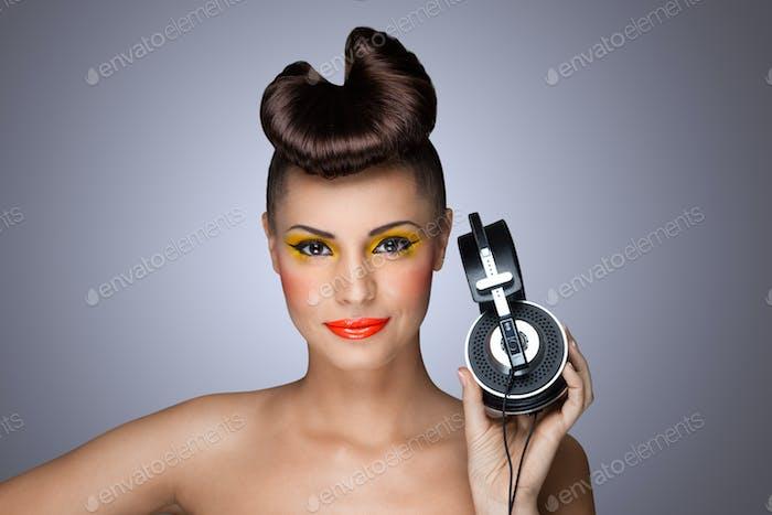 La moda de los auriculares.