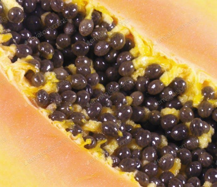 Papaya-Fruchtschnitt