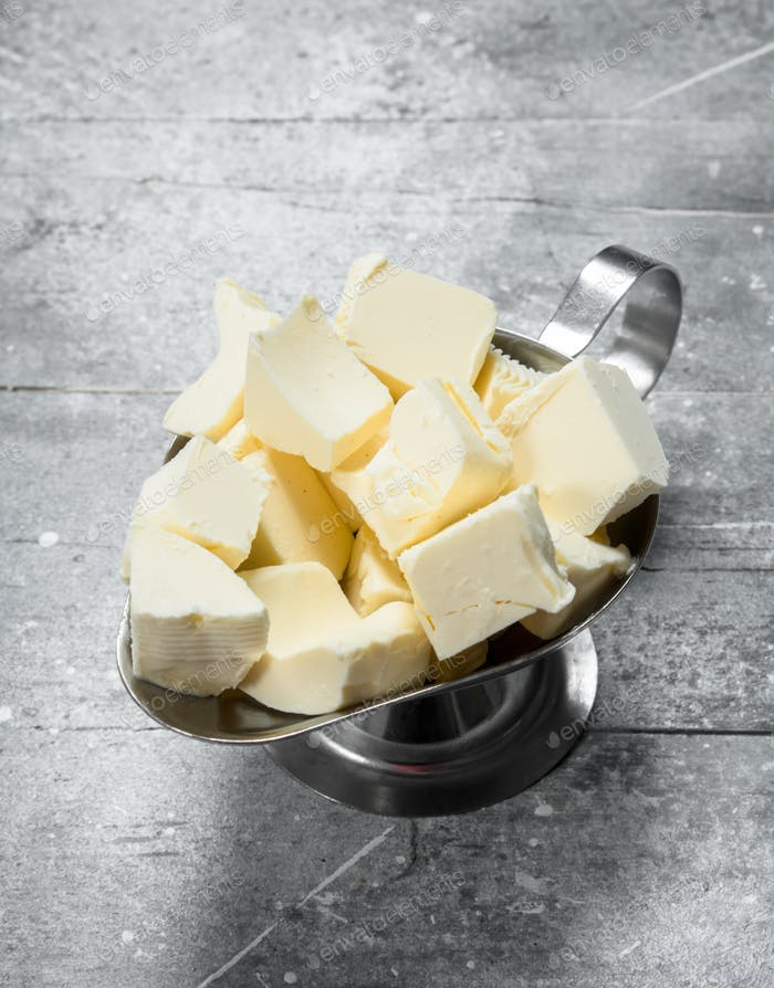 Butter in bowl.