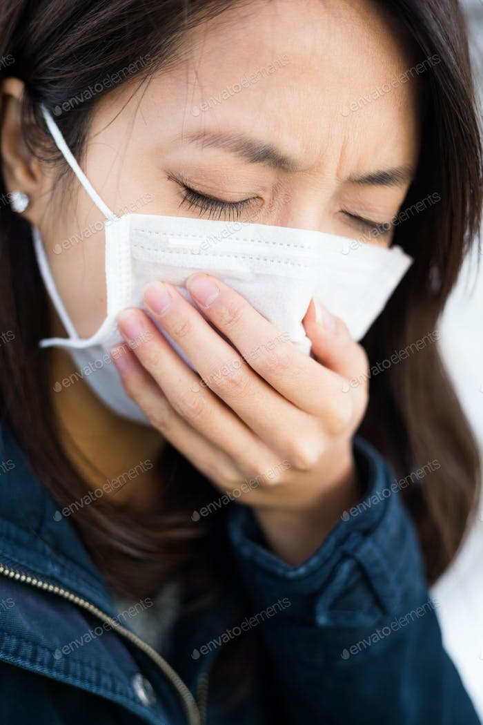 Yougn woman feeling unwell
