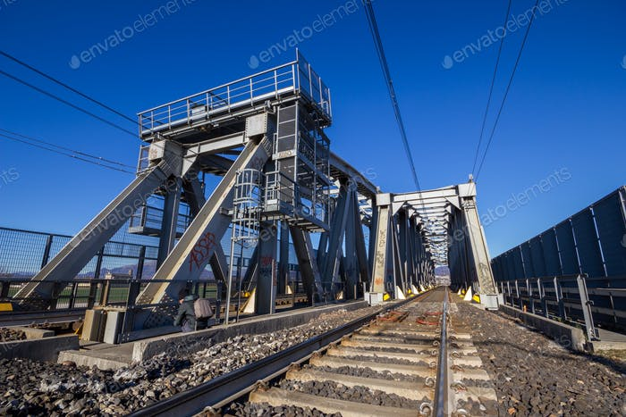 Railroad with bridge