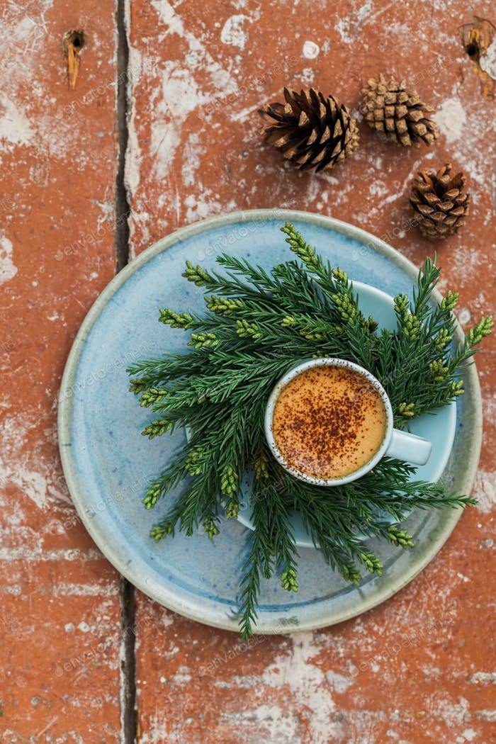 Christmas espresso coffee