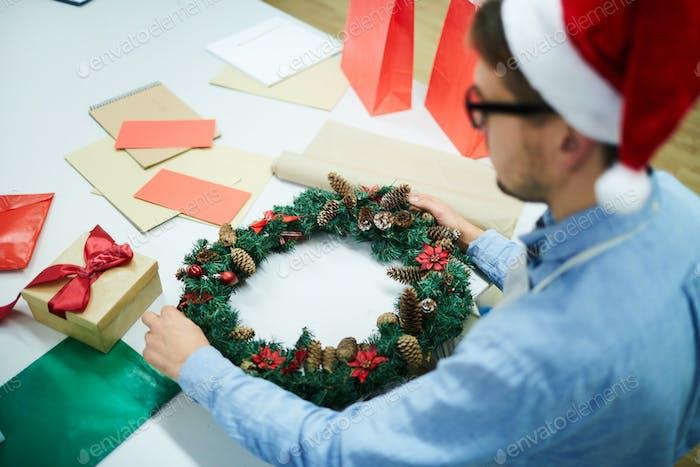 Busy Mann Dekoration Weihnachtskranz