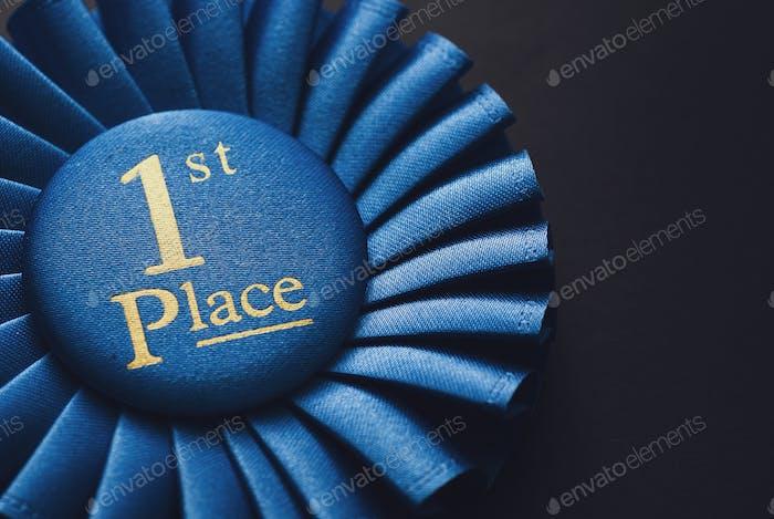 Winner 1st place blue ribbon for rewarding