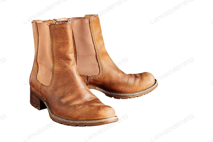 boots on white background