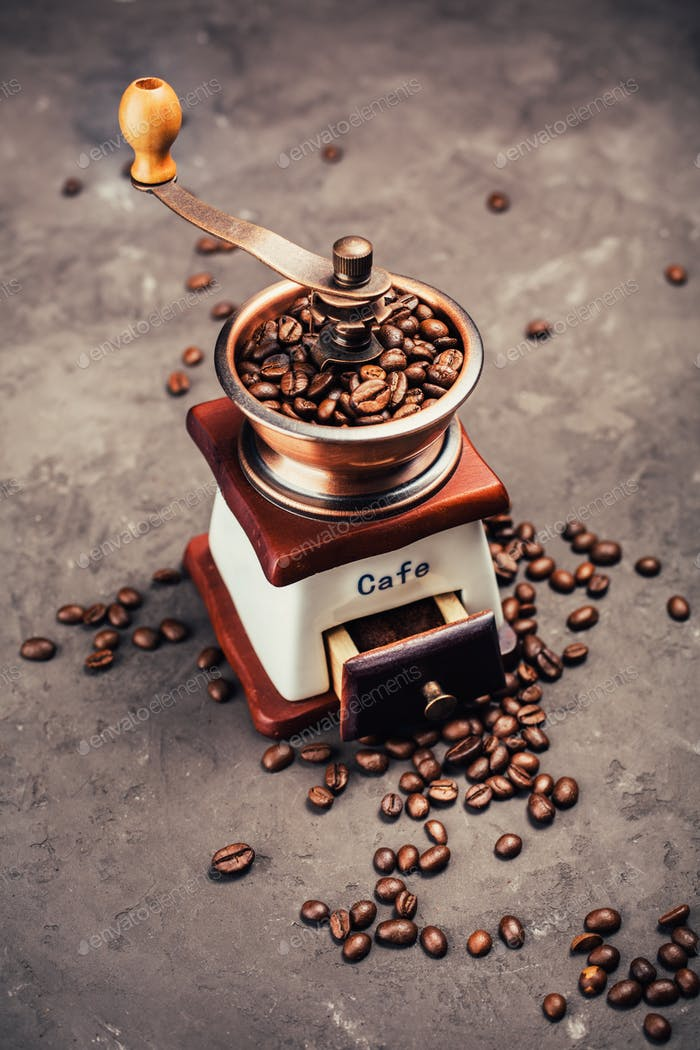 Coffee devices - grinde and coffee beans
