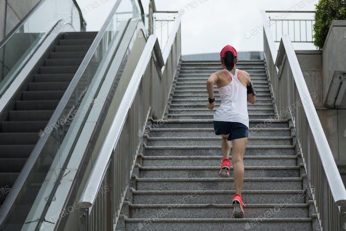 Running upstairs