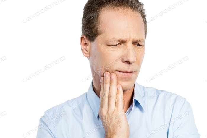 Suffering from toothache.
